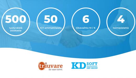Yrityskauppa Teams-etäneuvotteluina – Triuvare Oy on ostanut Oy KD-Soft Ab:n osakekannan
