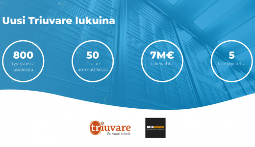 IT-yhtiö Triuvare Oy on ostanut Data Cosmos Oy:n liiketoiminnan
